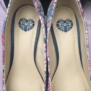 T.U.K Shoes - T.U.K. Postage Stamp Heels - NEW